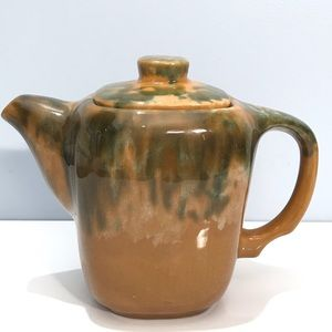 Beauce Pottery Paysan Tea Pot 1960s Vintage Quebec